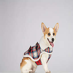Bee & Willow™ Home Plaid Sherpa Medium Dog Coat in Red