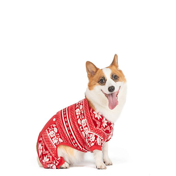 Alternate image 1 for Bee & Willow™ Home Fleece Medium Dog Pajamas in Red