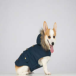 Bee & Willow™ Home Pet Parka with Hood in Blue Plaid