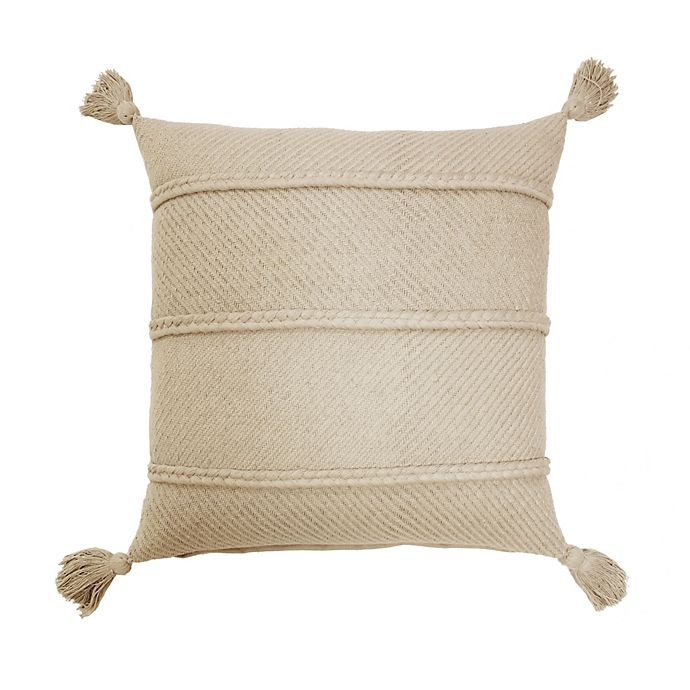 Alternate image 1 for Bee & Willow™ Home Braids and Tassels Square Throw Pillow in Peyote