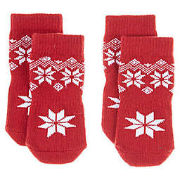 Bee & Willow Home™ Fair Isle Dog Socks in Red