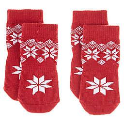 Bee & Willow™ Fair Isle Dog Socks in Red