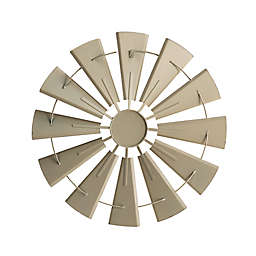 28.5-Inch Metal Wind Spinner Wall Decor in Vintage White