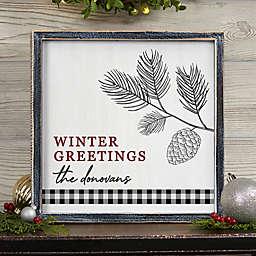 Festive Foliage WHTWSH BRNWD Wall Art-12x12
