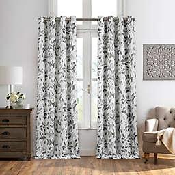 Avalon Floral Grommet Room Darkening Window Curtain Panel (Single)