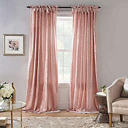 Korena Velvet Tie Top Room Darkening Window Curtain Panel