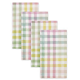 Spring Jubilee Plaid Napkins (Set of 4)