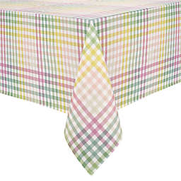 Spring Jubilee Plaid 60-Inch x 144-Inch Oblong Tablecloth