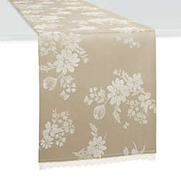 Spring Jubilee Damask 72-Inch Table Runner in Natural