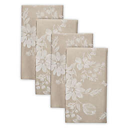 Spring Jubilee Damask Napkins in Natural (Set of 4)