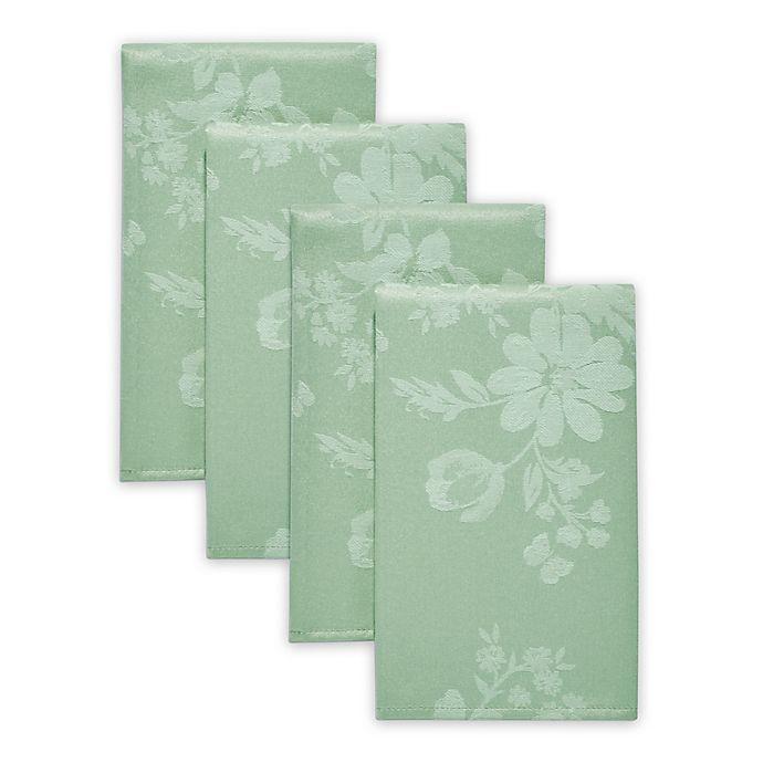 Alternate image 1 for Spring Jubilee Damask Napkins in Green (Set of 4)