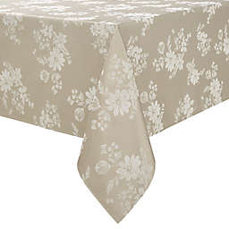 Spring Jubilee Damask 60-Inch x 120-Inch Oblong Tablecloth in Natural