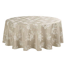 Spring Jubilee Damask 70-Inch Round Tablecloth in Natural