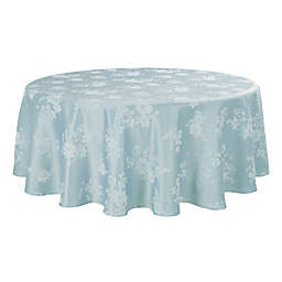 Spring Jubilee Damask 90-Inch Round Tablecloth in Mist