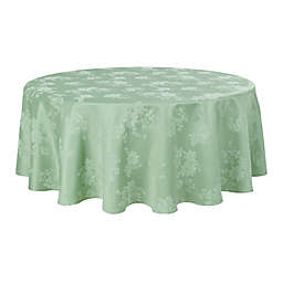 Spring Jubilee Damask 90-Inch Round Tablecloth in Green