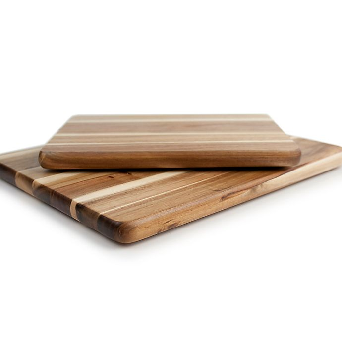 Alternate image 1 for Our Table™ 2-Piece Acacia Wood Cutting Board Set