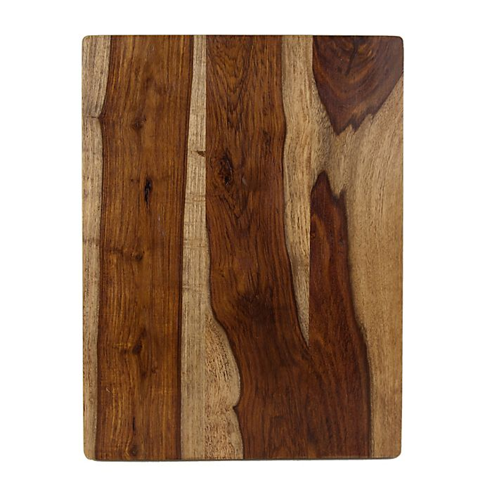 Alternate image 1 for Our Table™ 12-Inch x 16-Inch Indian Sheesham Cutting Board in Light Brown