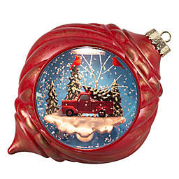 Snowburst™ 6.5-Inch Animated LED Christmas Snow Globe in Red