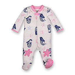 Lamaze® Size 9M Mermaid Organic Cotton Footed Pajama in Grey