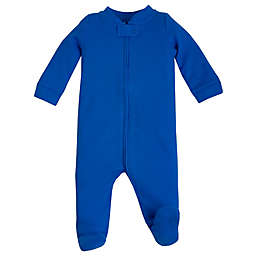Lamaze® Size 6-9M Organic Cotton Thermal Footie in Blue