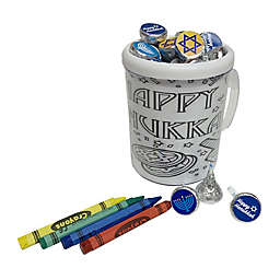 Hanukkah Color Me Mug filled with Chocolate Kisses