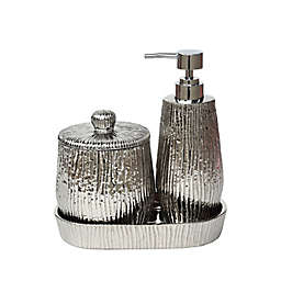 Silver 3-Piece Bathroom Ensemble Set