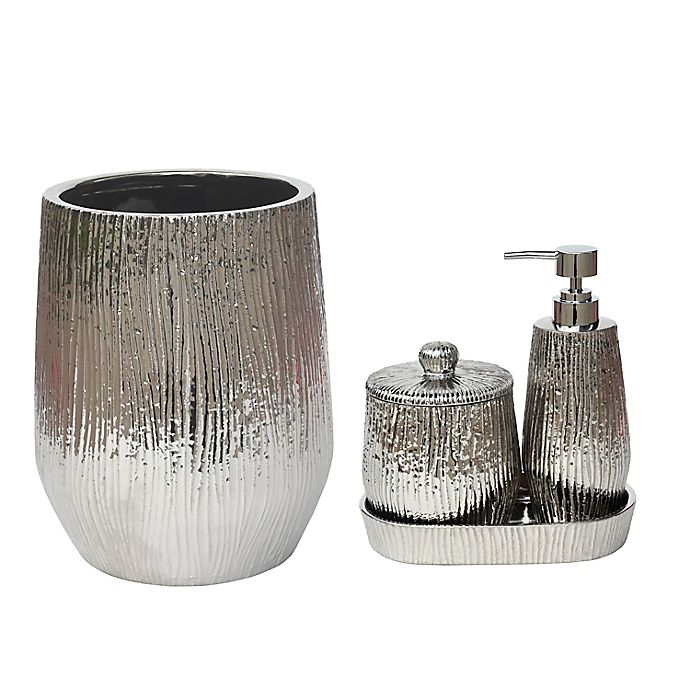 Alternate image 1 for Valletta Silver Bathroom Accessory Collection