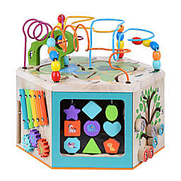 Preschool Play Lab Wooden Activity Learning Cube