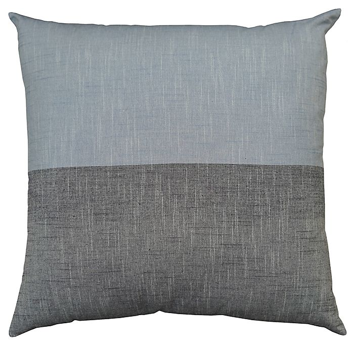 Alternate image 1 for Bee & Willow™ Home Colorblock Yarn Dye European Pillow Sham in Blue/Chambray