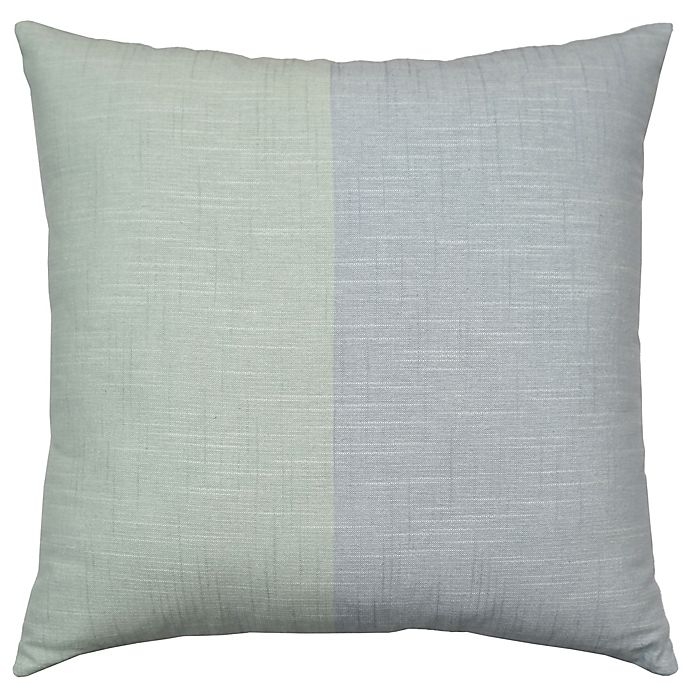 Alternate image 1 for Bee & Willow™ Home Colorblock Square Throw Pillow in Teal/Mint