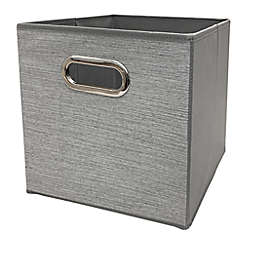 Relaxed Living Texture Grey 11-Inch Square Collapsible Storage Bin