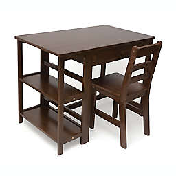 Lipper Kids Workstation Desk & Chair Set in Walnut