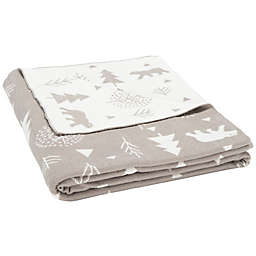 Safavieh Blizzard Christmas Throw Blanket in Grey