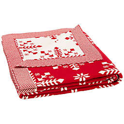 Safavieh Reversible Frost Throw Blanket in Red