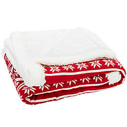 Safavieh Wintry Sherpa Throw Blanket in Red
