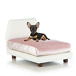 Club Nine Pets Lido Small Orthopedic Dog Bed in Pink