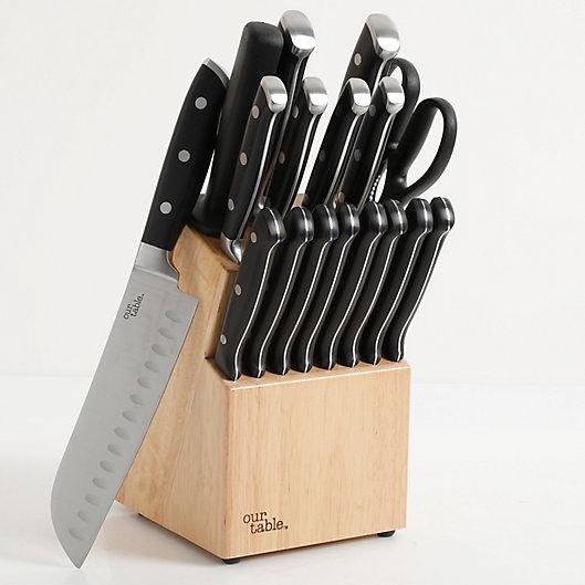 Alternate image 1 for Our Table™ 18-Piece Triple Rivet Knife Block Set