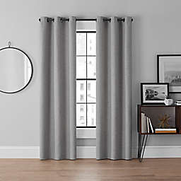 Brookstone® Curtain Fresh™ Dale 2-Pack 84-Inch Grommet Blackout Curtains in Grey