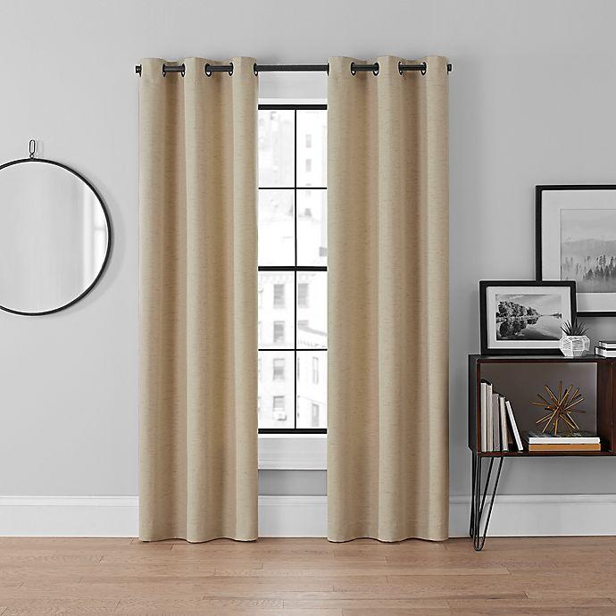 Alternate image 1 for Brookstone® Curtain Fresh™ Dale 2-Pack Grommet Room Darkening Window Curtain Panels