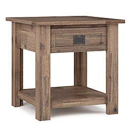 Simpli Home™ Monroe 1-Drawer End Table in Rustic Natural