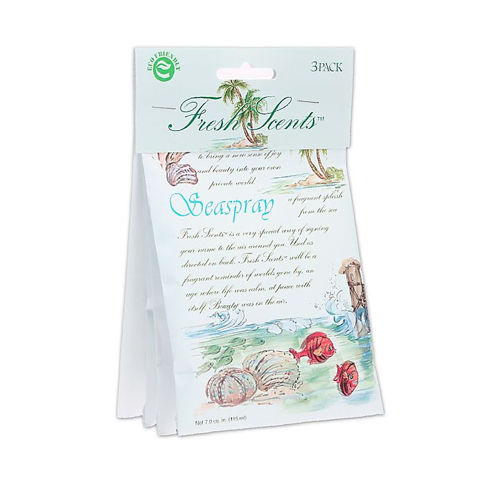 Alternate image 1 for Fresh Scents™ Scent Packets in Seaspray (Set of 3)