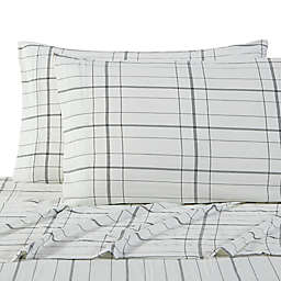 UGG® Devon Garment Washed Standard/Queen Pillowcases in Charcoal Plaid (Set of 2)