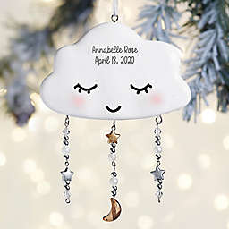 """4-Inch """"Sweetest of Dreams"""" Personalized Resin Christmas Ornament in White"""
