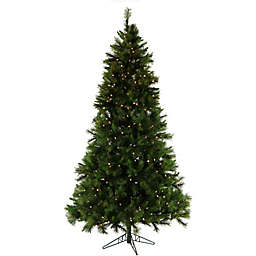 Fraser Hill Farm Canyon Pine Pre-Light Artificial Christmas Tree with Clear Lights