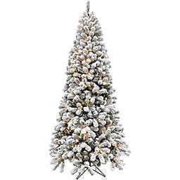 Fraser Hill Farm 7.5-Foot Alaskin Pine Pre-Lit Artificial Christmas Tree with Smart String Lighting