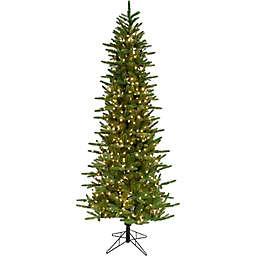 Fraser Hill Farm 9-Foot Carmel Pine Pre-Lit Artificial Christmas Tree