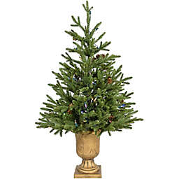 Fraser Hill Farm 3-Foot Noble Fir Artificial Accent Christmas Tree in Green