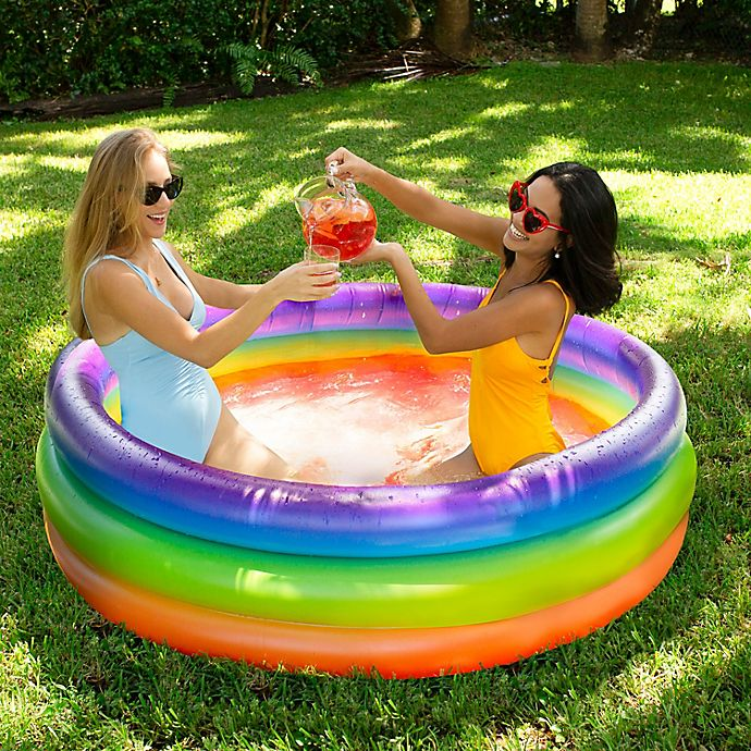 Alternate image 1 for Pool Candy Adult Inflatable Rainbow Sunning Pool