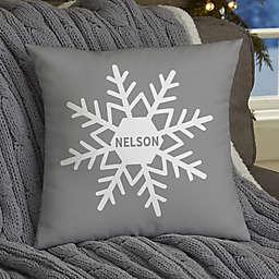 Snowflake Family Christmas Square Throw Pillow