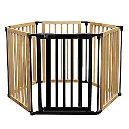 Bily 3-in-1 Wood & Metal Gate Superyard in Natural/Black